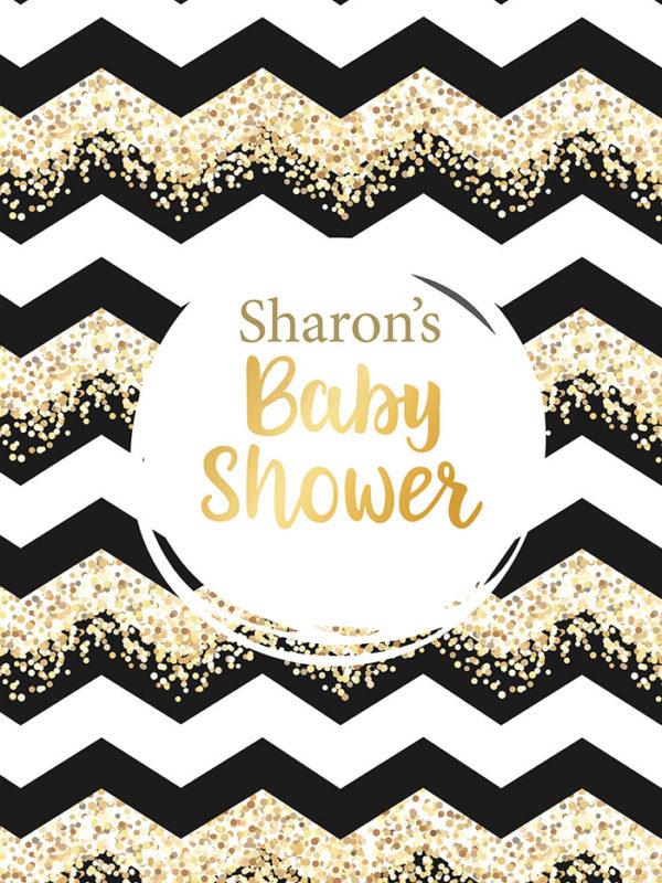 Baby Shower Gold Tear Resistant Back Drop