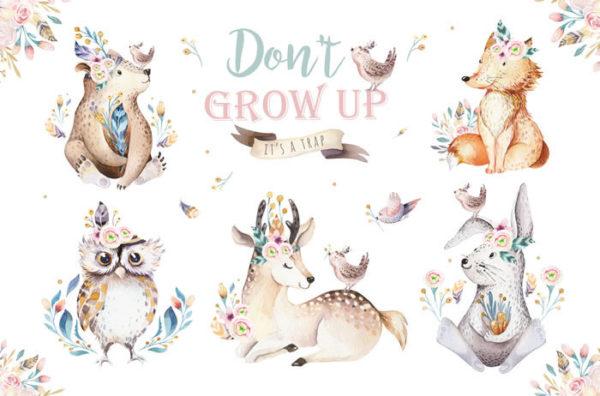 Don't grow up Fabric Back Drop