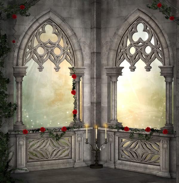 Fantasy Gothic Fabric Back Drop