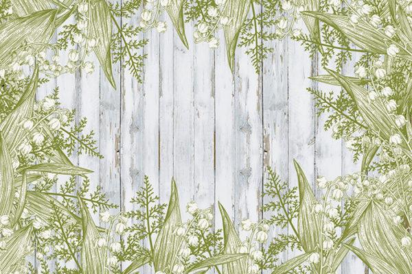 Fern Green - No wording Fabric Back Drop
