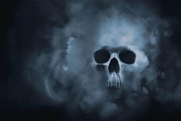 Skull face Fabric Back Drop