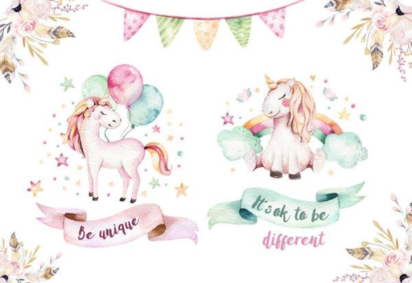 Unicorn - Different Fabric Back Drop