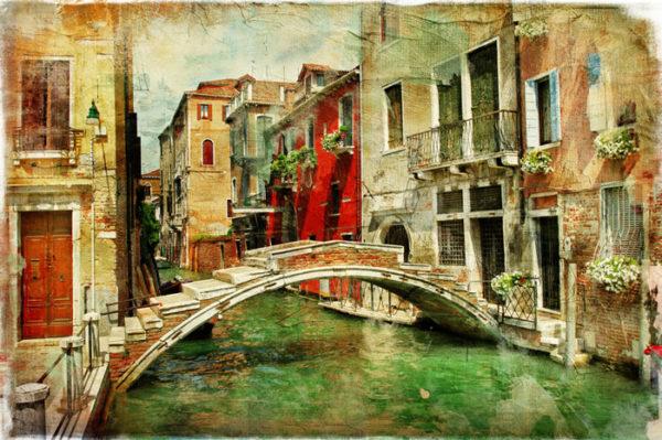 Venice Bridge Fabric Back Drop