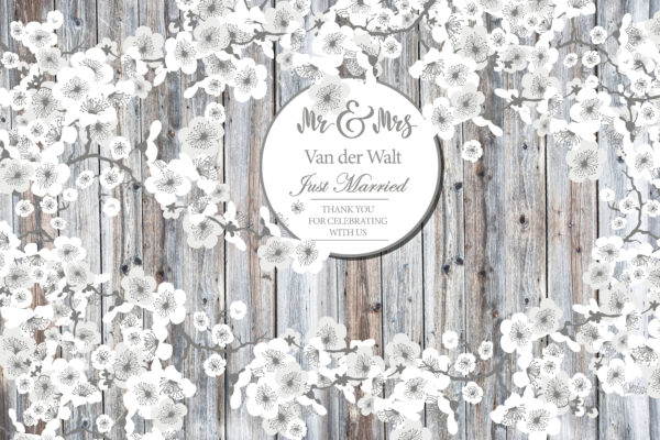White Paper Flowers Fabric Back Drop