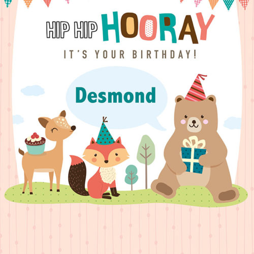 Birthday - Woodland Tear Resistant Back Drop