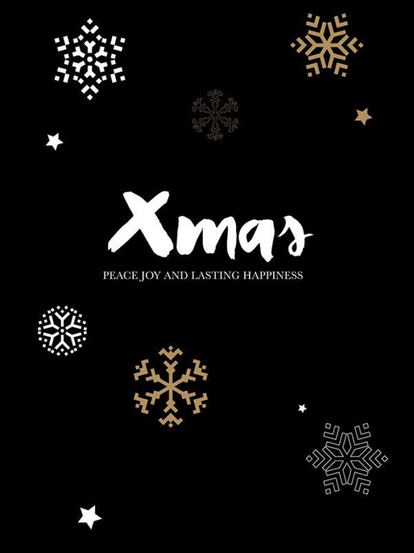 Christmas - Black Xmas Tear Resistant Back Drop