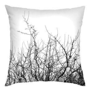 Black Winter Tree Cushion