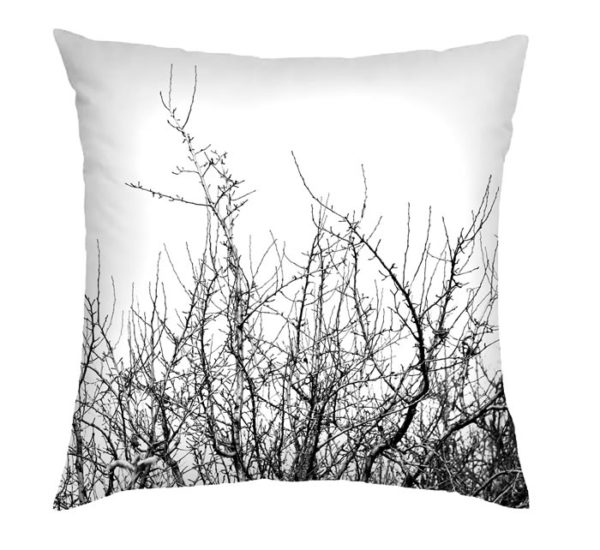Black Winter Tree Cushion