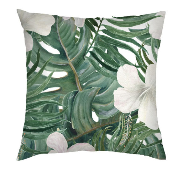 Foliage Hybiscus Cushion