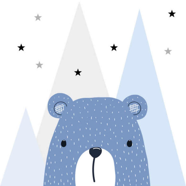 Blue Bear Wall Graphic