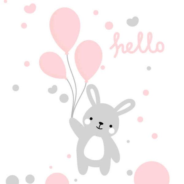 Hello Bunny Wall Graphic
