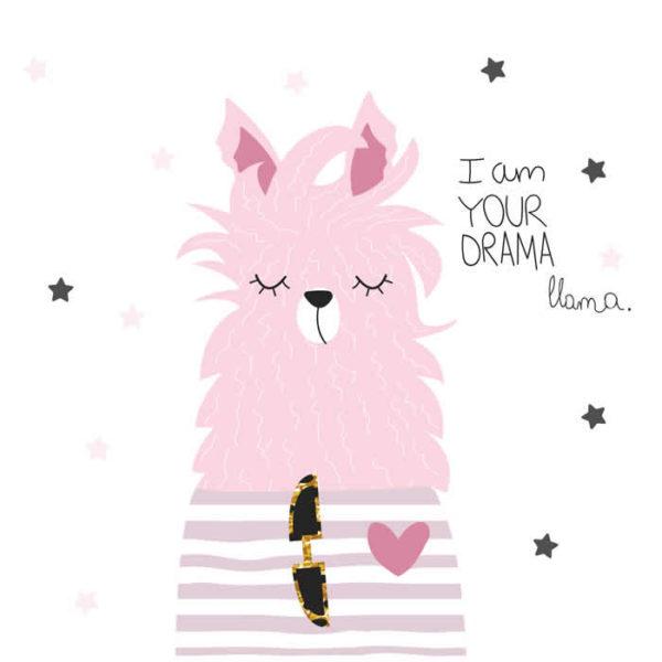 Lama Face Wall Graphic