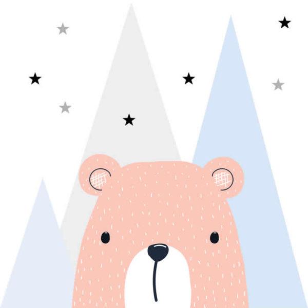 Pink Bear Wall Graphic