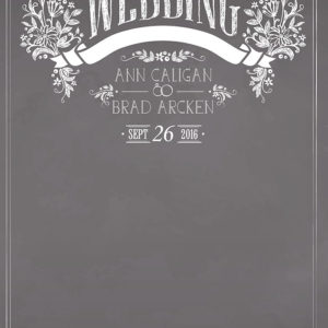 Wedding - Chalkboard Tear Resistant Back Drop