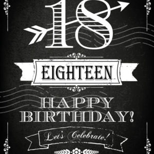 Birthday - 18th Tear Resistant Back Drop