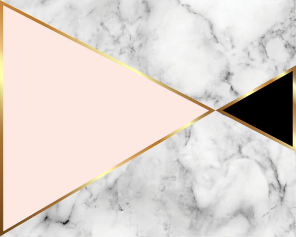 Rose Gold Marble Geo Flat Lay Board